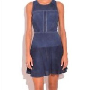Parker Leona navy suede dress size small